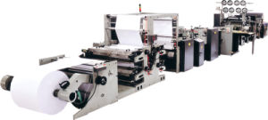 Full Automatic High Speed Flexo Printing and Saddle Stitch Production Line for Exercise Book (dual paper paths) pictures & photos