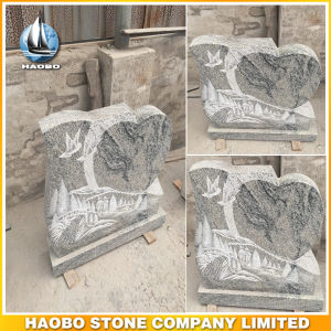 Unique Shape Upright Headstone in Grey Granite pictures & photos