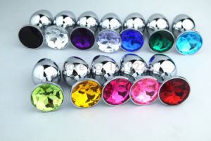 Metal Anal Plug Colorful Stainless Steel+Crystal Jewelry Sex Toy pictures & photos