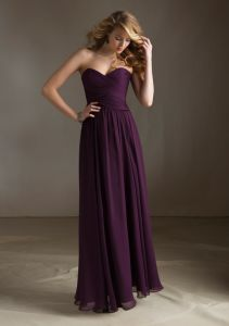 Pleated Chiffon Long Bridesmaid Dresses (BD3060) pictures & photos