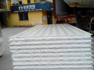 Blue Sheet EPS Sandwich Panel for Prefabricated House pictures & photos