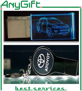 Acrylic USB with Customized Engraved Logo 32 pictures & photos