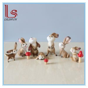 Resin Rabbit Handicraft Furnishing Articles Gifts Small Ornament pictures & photos