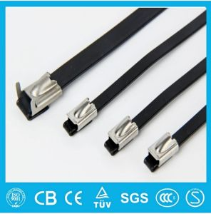 7mm Plastic Covered Stainless Steel Cable Tie (Ladder Type) pictures & photos