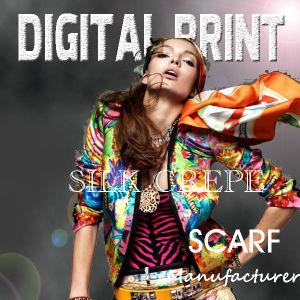 Digital Silk Print 100% Silk Crepe De Chine (M018) pictures & photos