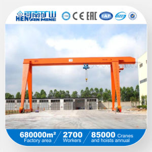 Kuangyuan Brand Light Duty Single Girder Gantry Crane with Electric Hoist in Outside Warehouse pictures & photos