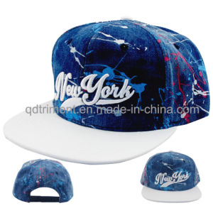 Fashion Polyester Printcloth Flat Bill Snapback Baseball Cap (TMFL0710) pictures & photos