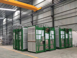 Double Cabins Building Construction Elevator for Materials with Easy Control pictures & photos