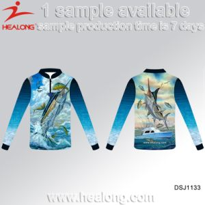 Healong Knitted 3D Sublimated Vented Fishing Shirts with UV Protective pictures & photos