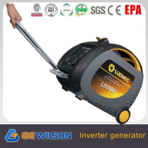 3000W Digital Portable Inverter Generator with Wheels and Handle pictures & photos