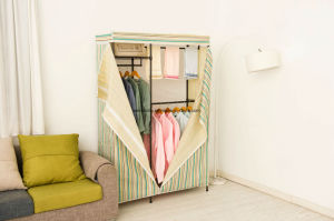 DIY Epoxy Metal Bedroom Wardrobe with Non-Woven Cover pictures & photos