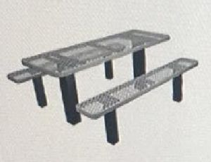 Metal Fabrication Permanent Expanded Metal Picnic Table pictures & photos