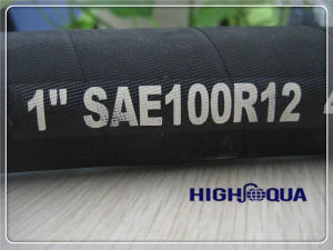 High Pressure Wire Spiral Hydraulic Hose DIN En856/ SAE 100r12 pictures & photos