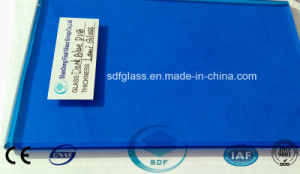 Double Clear Float Glass+Dark Blue PVB Laminated Glass with CE, ISO