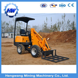 Mini Wheel Loader with Backhoe Machine Gold Digger Mini Wheel Loader pictures & photos