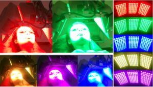 PDT LED Beauty Machine with Red Blue Light Therapy pictures & photos
