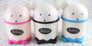 Small Szie of Panda Head Shape Plastic Waste Bin pictures & photos