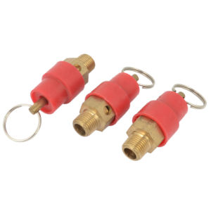 Air Compressor 1/8PT Male Thread Safety Relief Valve Red Gold Tone pictures & photos