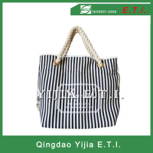 High Quality Cotton Canvas Bag with Rope Handles pictures & photos