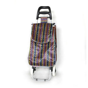 Two Wheels Folding Shopping Trolley Bag pictures & photos