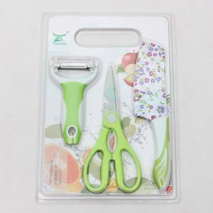 Promotional Kitchen Knife, Scissors and Fruit Peeler Set of 3PCS pictures & photos
