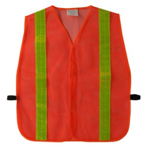 Mesh Fabric Safety Vest with PVC Tape pictures & photos