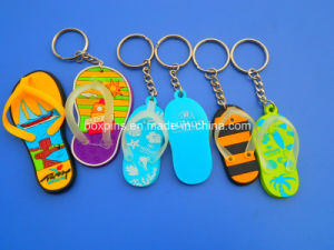 Customized Wholesale Slipper PVC Rubber Keychain
