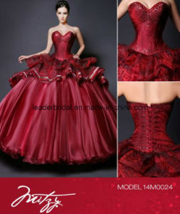Burdundy Quinceanera Gowns Sweetheart Fashion Quinceanera Dresses Z3017 pictures & photos