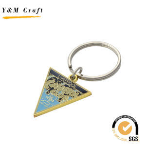 Shield Shaped Metal Gold Key Ring for Mens Ym1021 pictures & photos