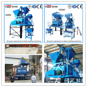 Fully Automatic and Basic Automatic Concrete Block Machine (JS500 mixer) pictures & photos