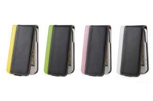 The Mix Color PU Leather Mobile Phone Case for iPhone 5