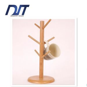 Custom Design Coffee Wood Cup Holder with Round Base