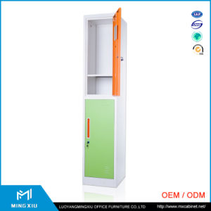 Luoyang Mingxiu 2 Door Metal Storage Cabinet / Double Door Steel Cabinet Lockers pictures & photos