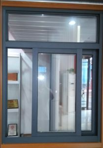 T768 Slide Aluminium Window (Powder Coating Grenn) for Hotel Furniture Material pictures & photos