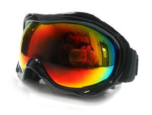 Green Rainbow Mirror and Polarized Lens Ski Goggles (SNOW-2504) pictures & photos