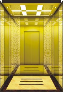 Machine Room Passenger Lift with Titanium Mirror Stainless Steel Car pictures & photos