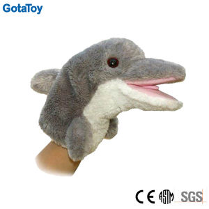 High Quality Plush Dolphin Hand Puppet Stuffed Dolphin Toy pictures & photos