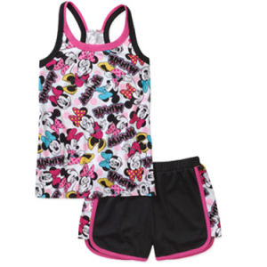 Mouse Girls′ 2 Piece Tank and Short Pajama