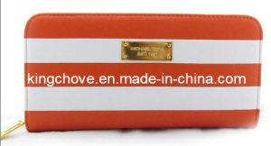 Fashion PU with White/Orange Straps Wallet (KCW01) pictures & photos