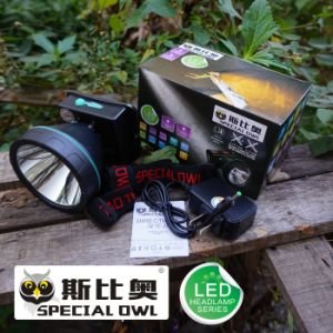 5W 7W 10W LED Headlamp with 3PCS*Rechargeable Lithium Battery for Camping Outdoor and Coal Miner Lamp Mining Headlamp pictures & photos