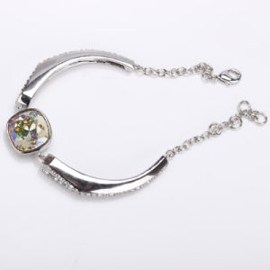 Alloy Bracelet with Crystal (no nickel no lead jewelry)