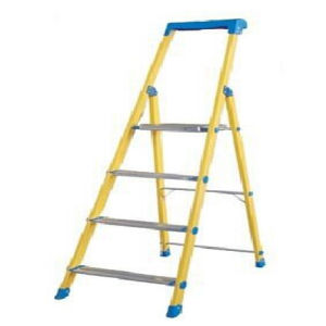 35kv Household Fiberglass Platform Ladder with Tools Kit pictures & photos