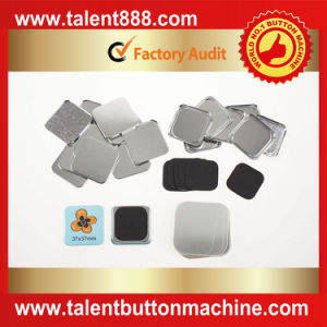 Talent Button Square 37X37mm Pin Button pictures & photos
