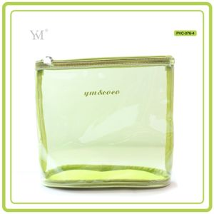 Beautiful Fashion Promotional Travel Custom Clear PVC Mesh Cosmetic Toiletry Makeup Woman Bag pictures & photos