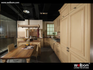 Welbom 2015 New American Style Solid Wood Kitchen Cabinet pictures & photos
