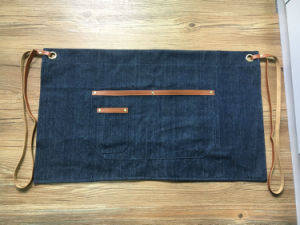 Cusomized Blue Denim Waist Barista Apron Wholesale pictures & photos
