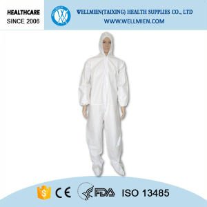 Nonwoven Disposable Coverall with Hood, Elastic at Wrists, Waist and Ankles pictures & photos