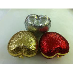 Fashionable Heart / Apple Shaped Shiny Sequin Girl′s Party Clutch Bag (1029) pictures & photos