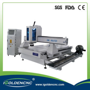 High Speed 4 Axis Wood Carving CNC Router with Rotary pictures & photos
