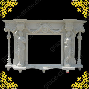 Stone Carving Fireplace Mantel for Home Ornament (GS-FF-029) pictures & photos